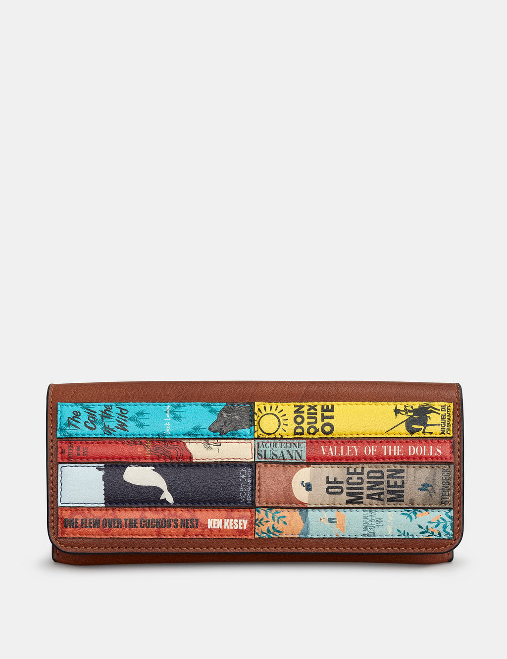 Bookworm Brown Leather Glasses Case