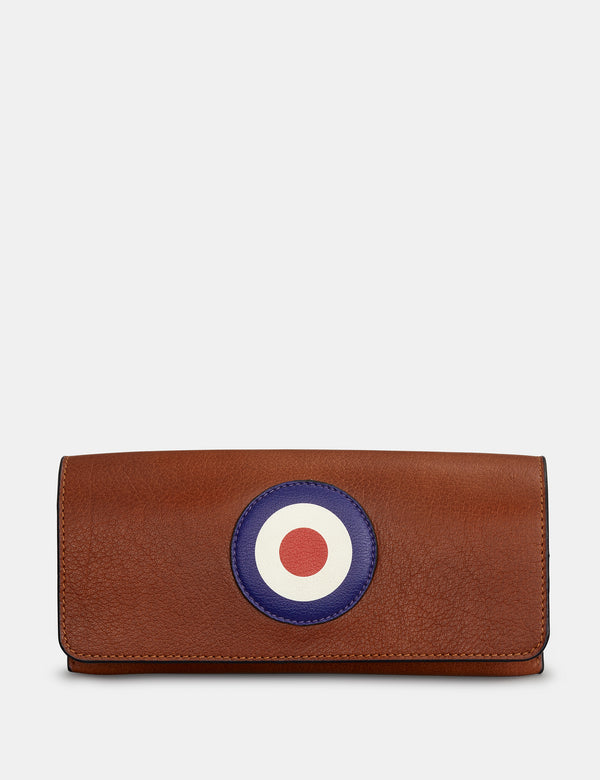 Mod Brown Leather Glasses Case