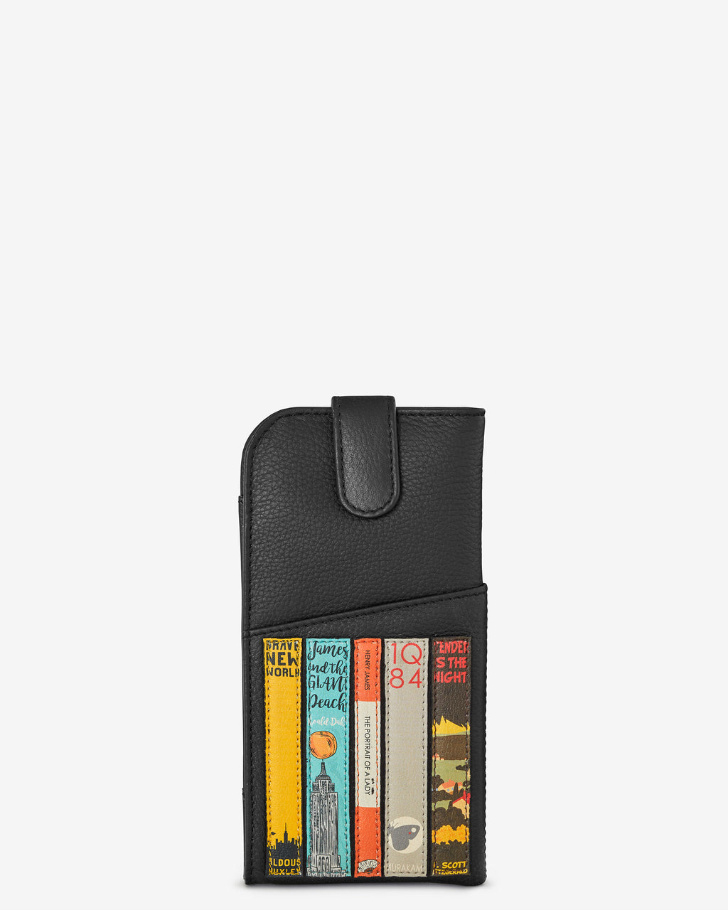 Bookworm Library Leather Glasses Case
