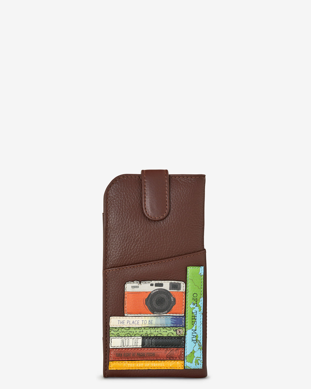 Travel Bookworm Library Leather Glasses Case