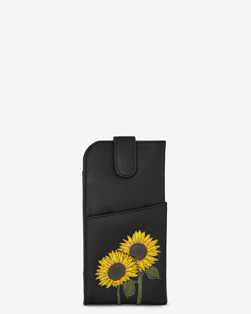 Sunflowers Leather Glasses Case