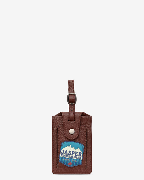Happy Travels Leather Luggage Tag