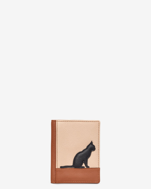 Clowder of Cats Leather Travel Pass Holder