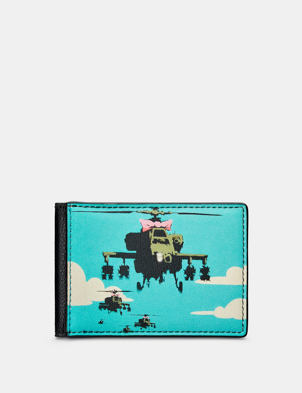 Banksy Apache Black Leather Travel Pass Holder