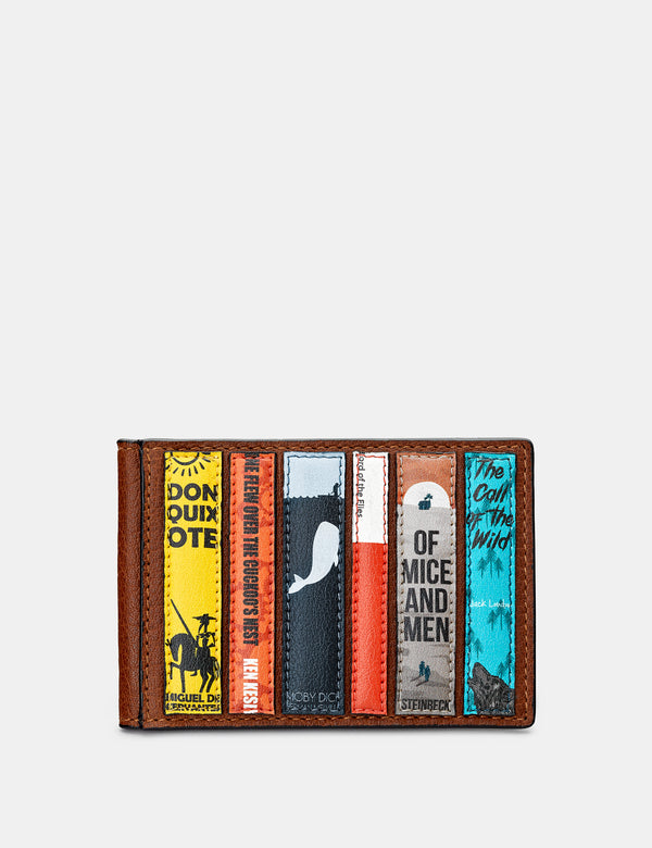 Bookworm Library Brown Leather Travel Pass Holder