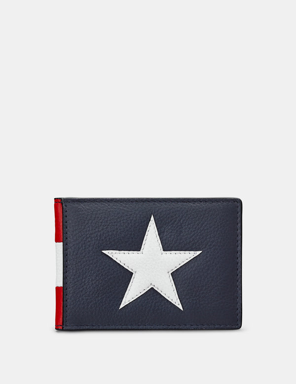 Star & Stripes Leather Travel Pass Holder
