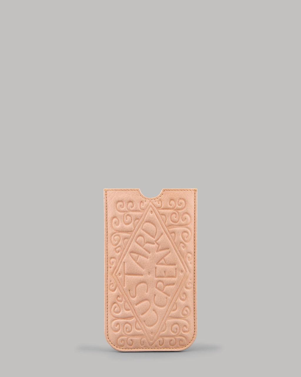 Custard Cream Biscuit Leather Phone Case
