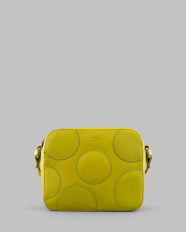 Spots and Dots Avocado Leather Shoulder Bag