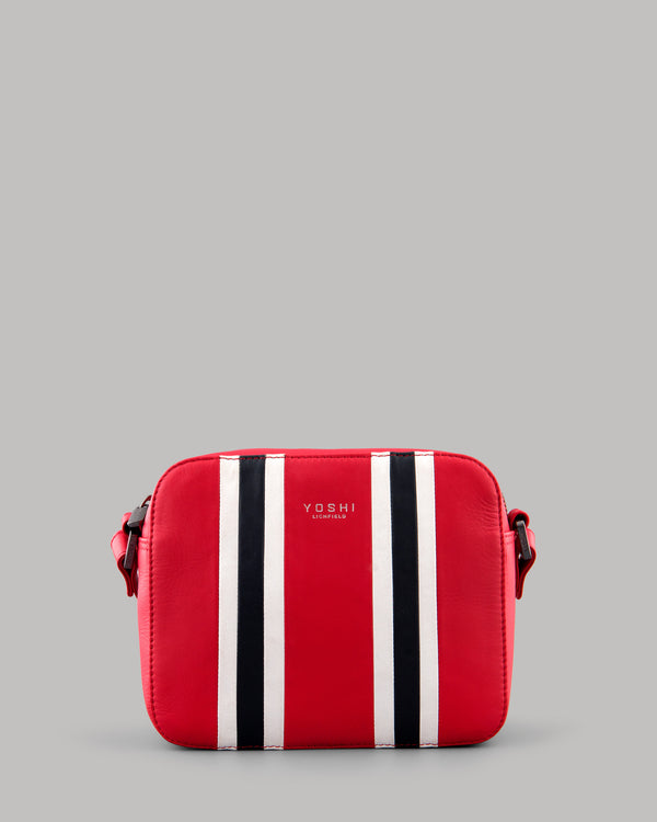 Rally Red Leather Shoulder Bag