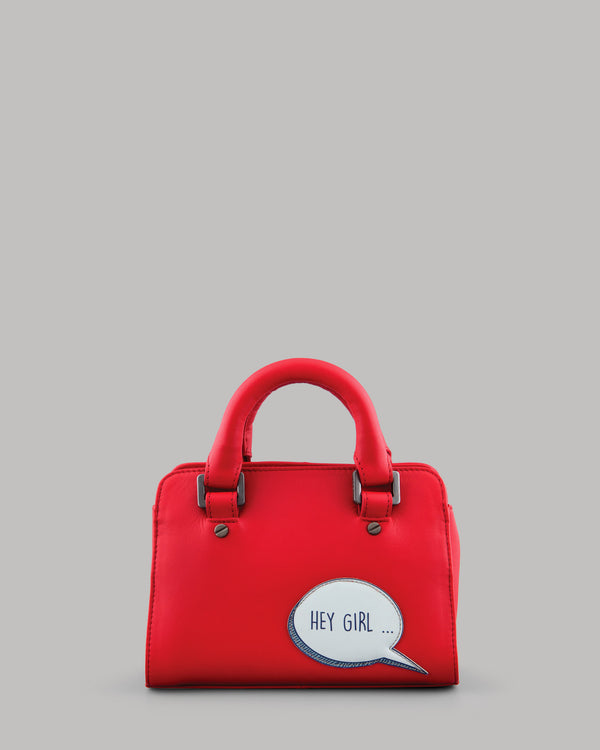 Gosling Red Leather Mini Grab Bag