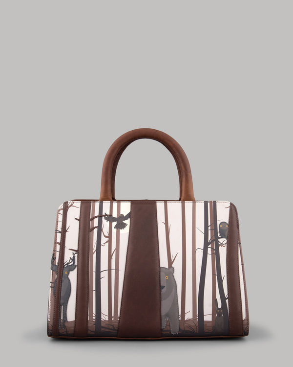 Into the Wild Brown Leather Tote Bag