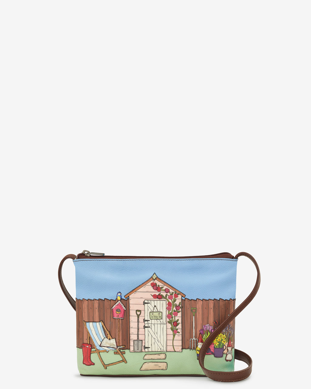 The Potting Shed Leather Cross Body Bag