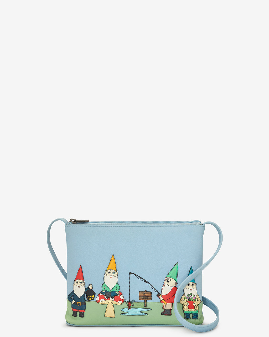 Gnome Sweet Gnome Parker Leather Cross Body Bag