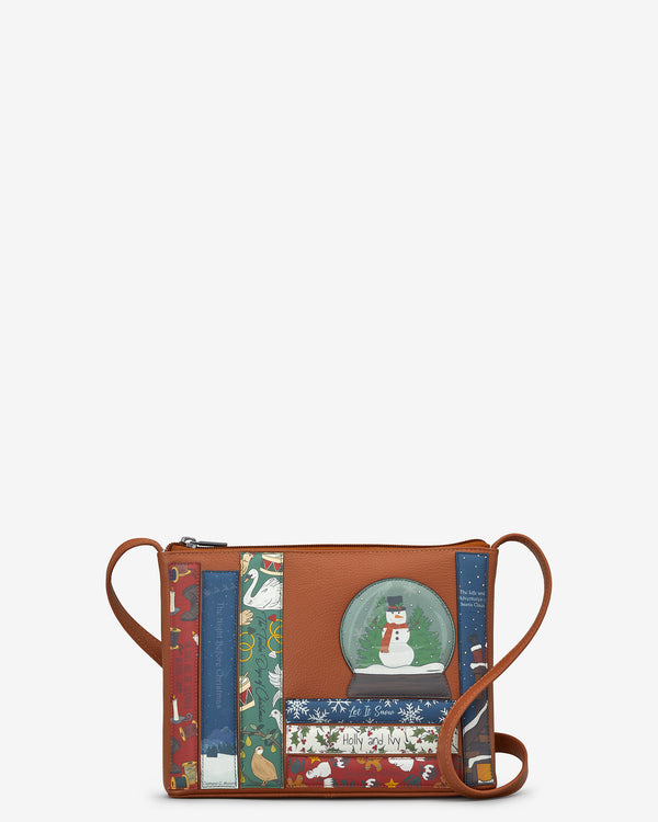 Christmas Bookworm Parker Tan Leather Cross Body Bag