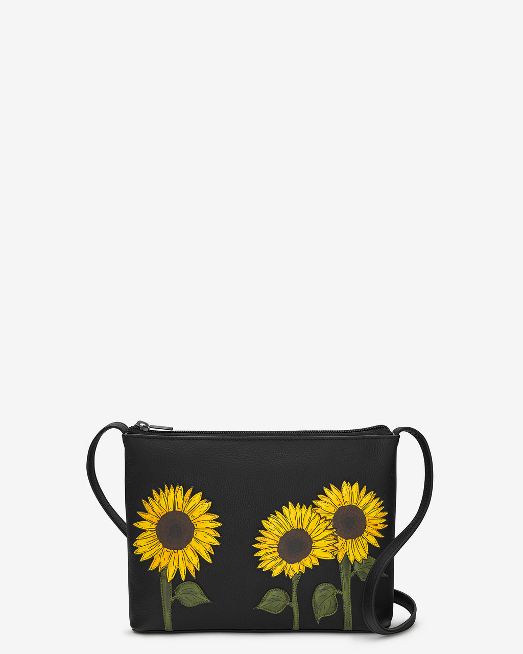 Sunflowers Parker Leather Cross Body Bag