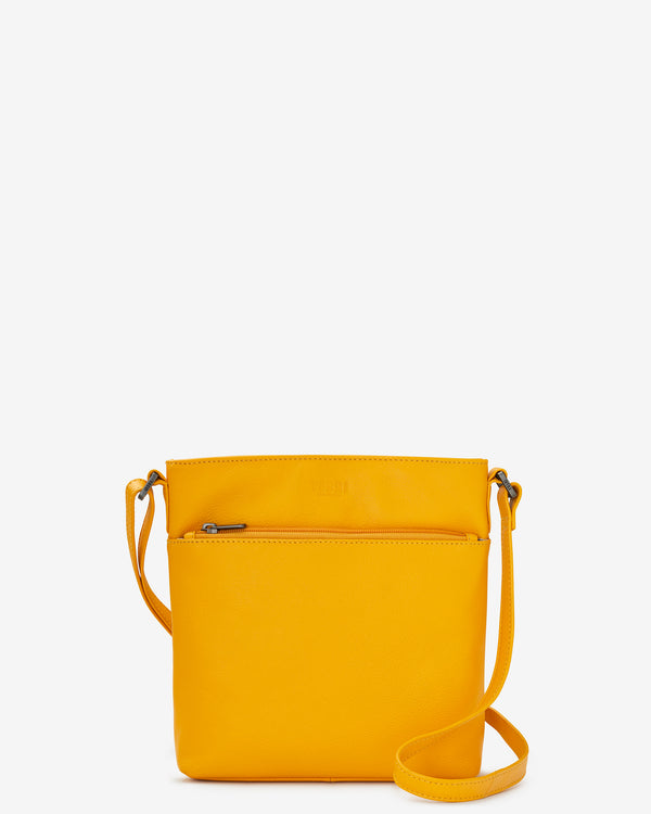 Garrick Leather Cross Body Bag