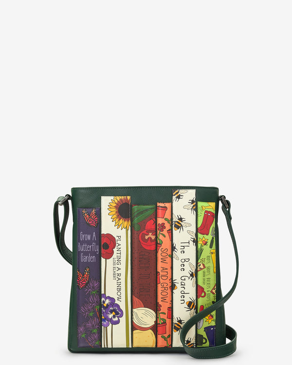Green Fingers Bookworm Library Bryant Leather Cross Body Bag