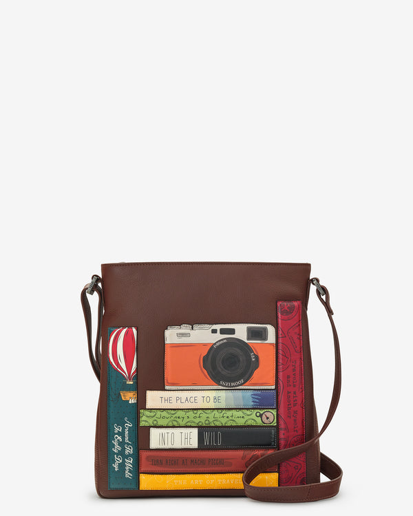 Travel Bookworm Library Bryant Leather Cross Body Bag