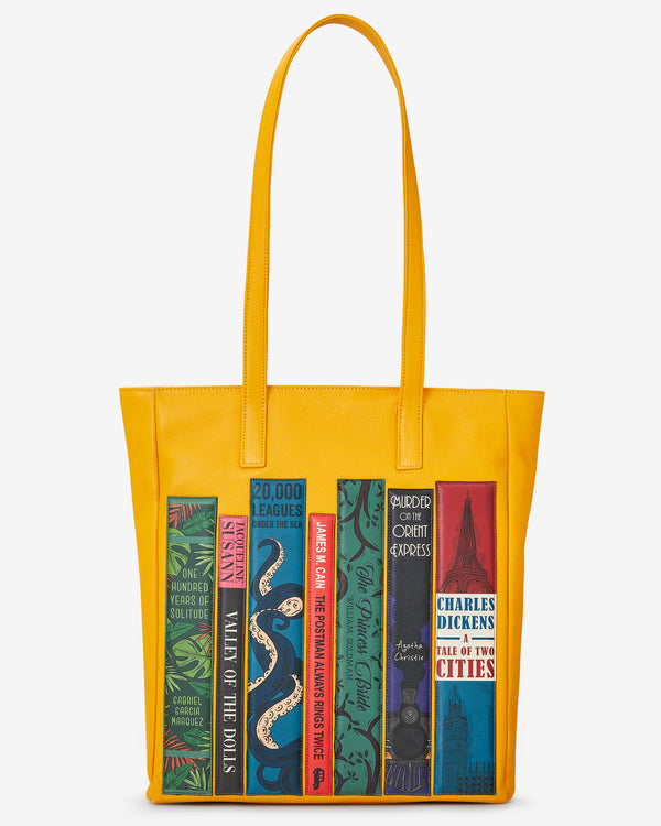 Bookworm Library Leather Marlowe Shopper Bag