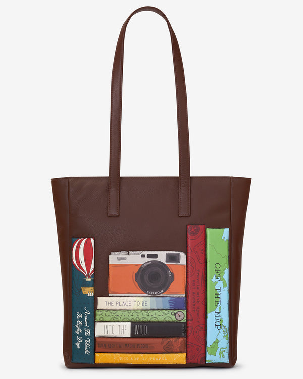 Travel Bookworm Leather Marlowe Shopper Bag