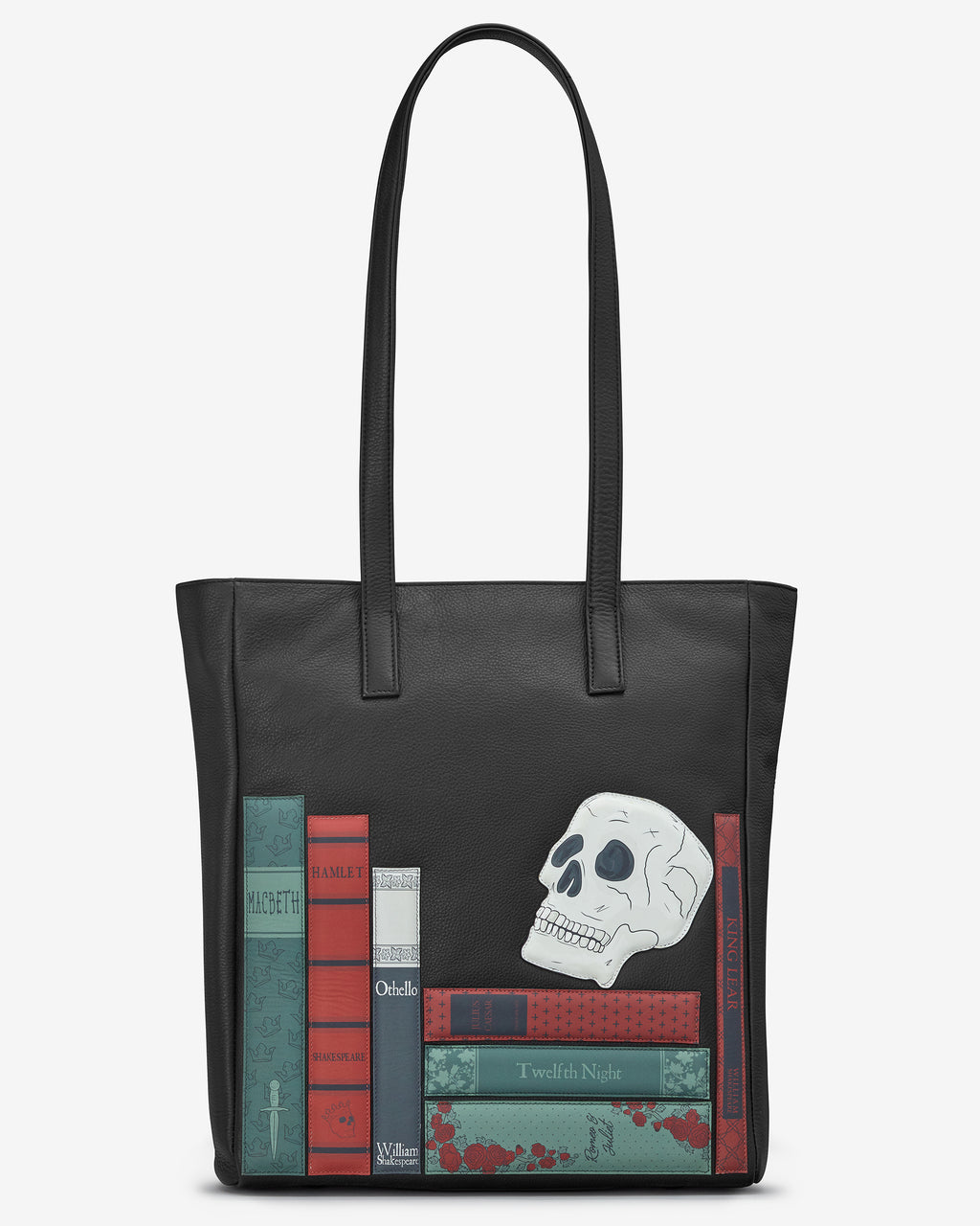 Shakespeare Bookworm Leather Marlowe Shopper Bag