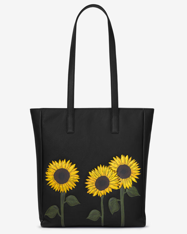 Sunflowers Leather Marlowe Shopper Bag