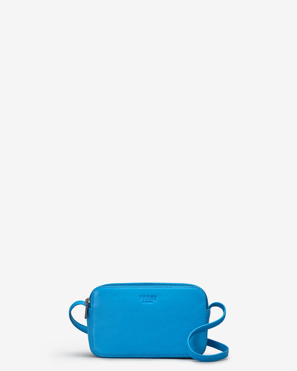 Porter Cobalt Blue Leather Cross Body Bag