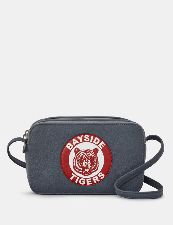 Bayside Tigers Grey Leather Cross Body Bag