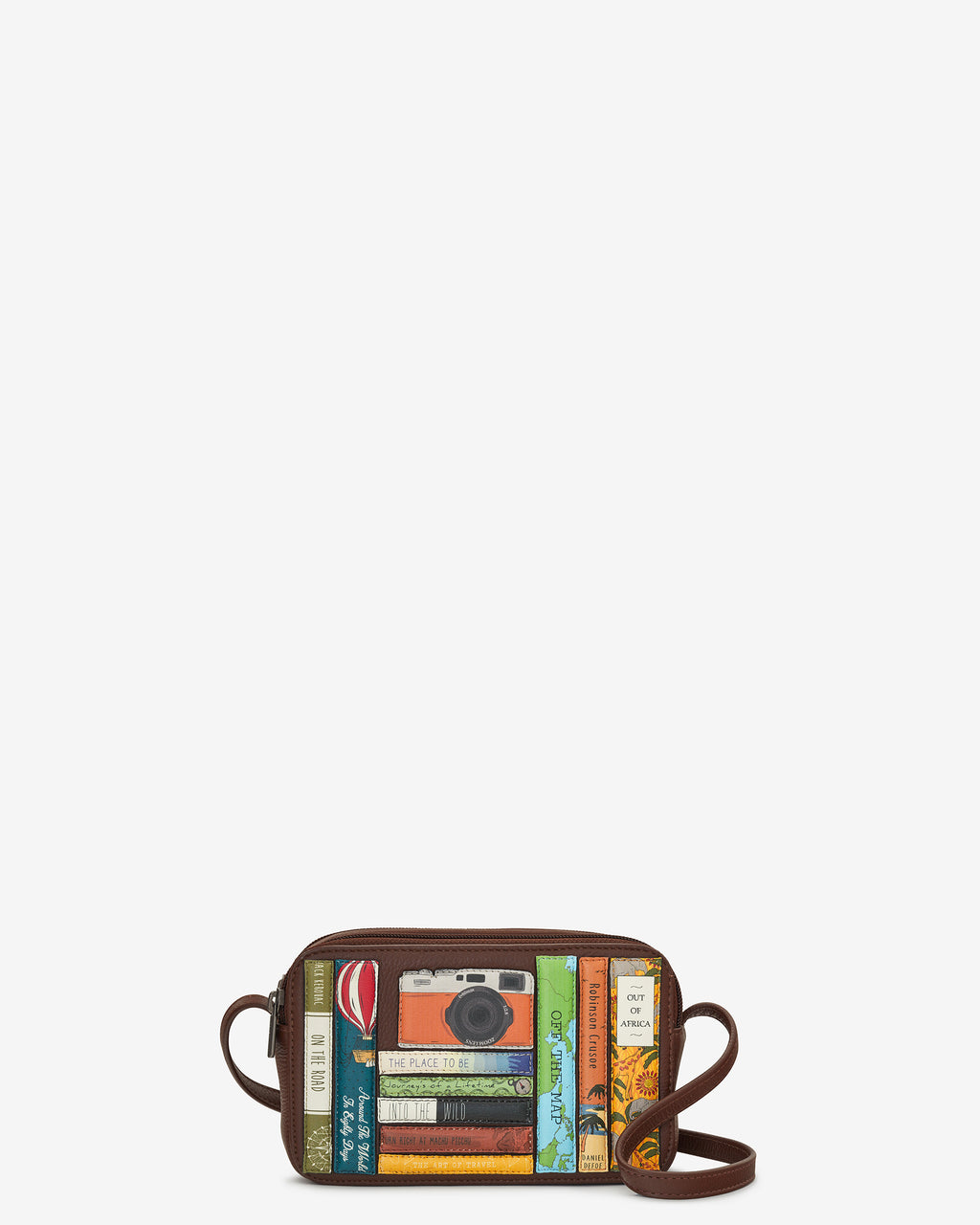 Travel Bookworm Library Leather Porter Cross Body Bag