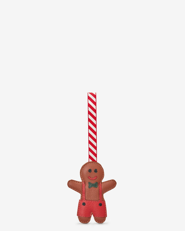 Gingerbread Boy Leather Christmas Tree Decoration