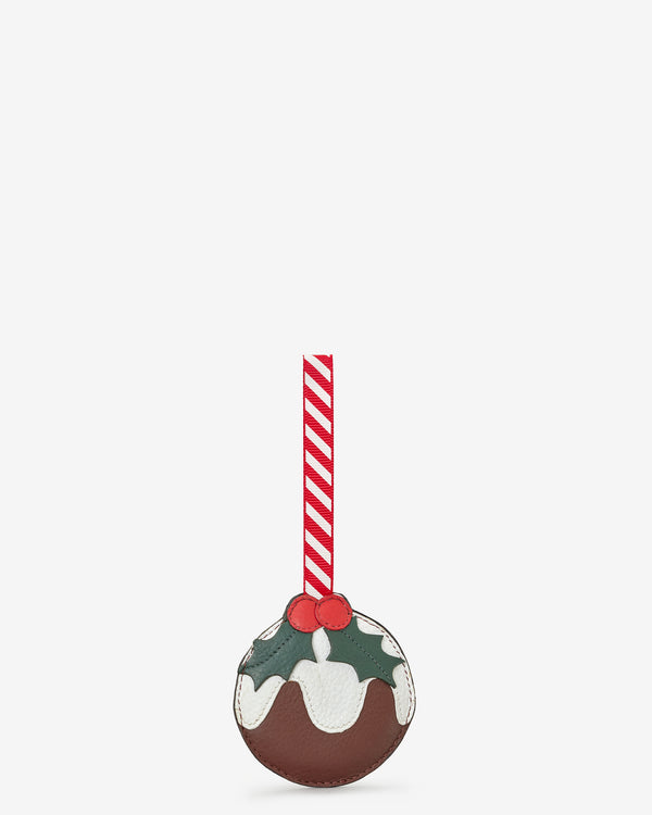 Leather Christmas Pudding Tree Decoration