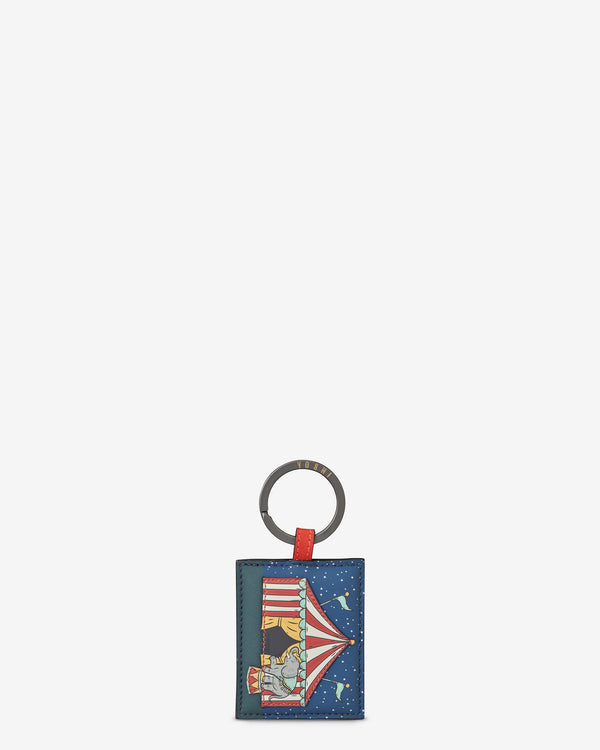 Circus Tent Leather Keyring
