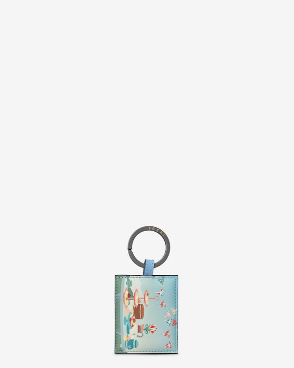Afternoon Tea Party Leather Keyring