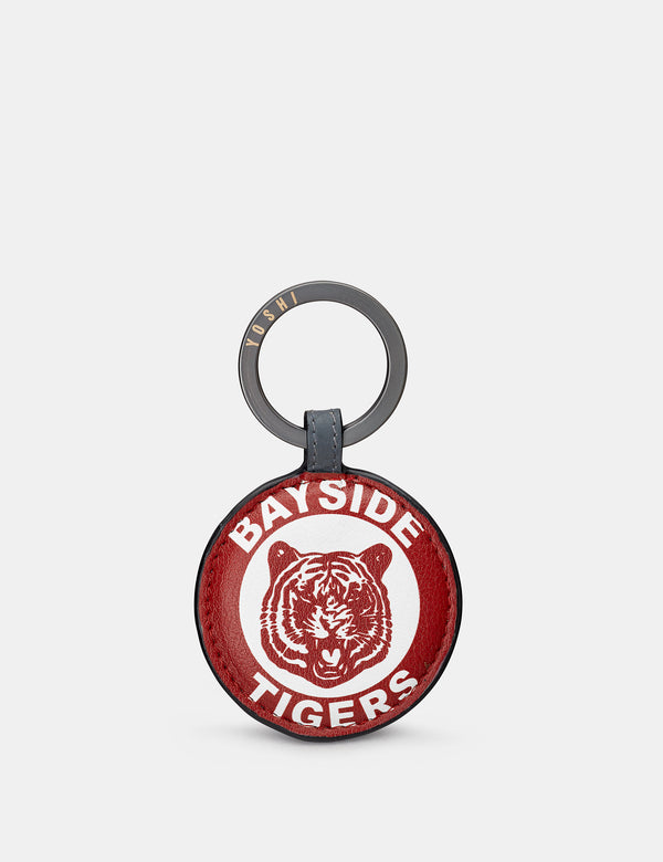 Bayside Tigers Grey Leather Keyring