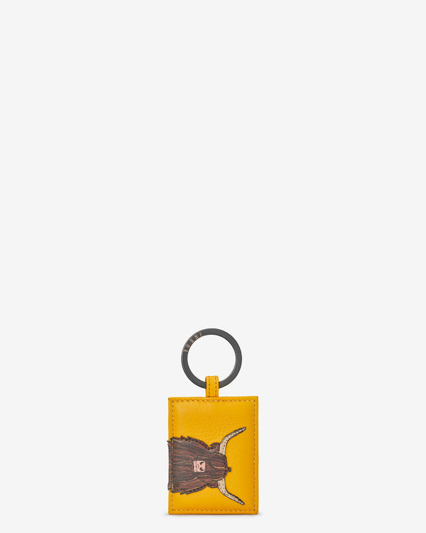 Leather Highland Cow Keyring