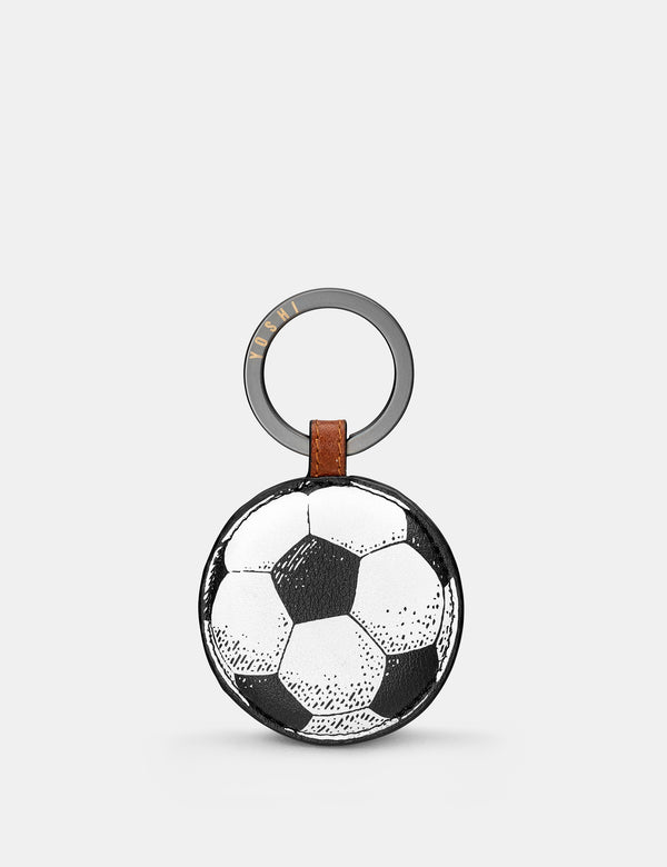 Football Brown Leather Keyring