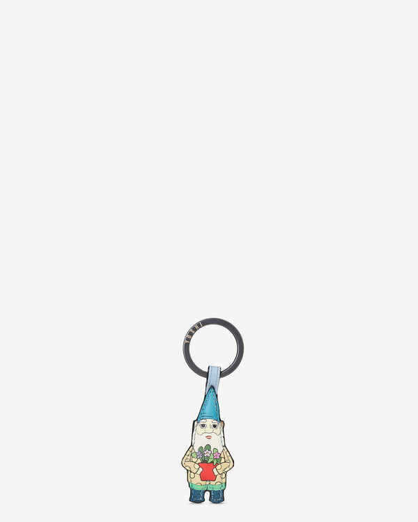 Gnome Sweet Gnome Leather Keyring