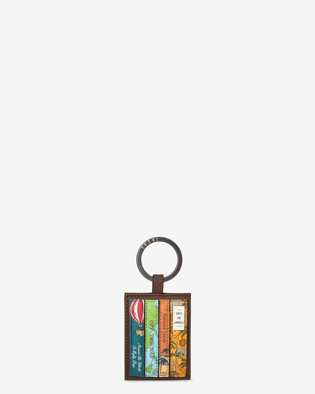 Travel Bookworm Library Leather Keyring