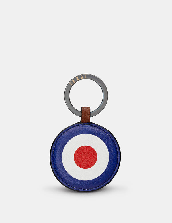 Mod Brown Leather Keyring