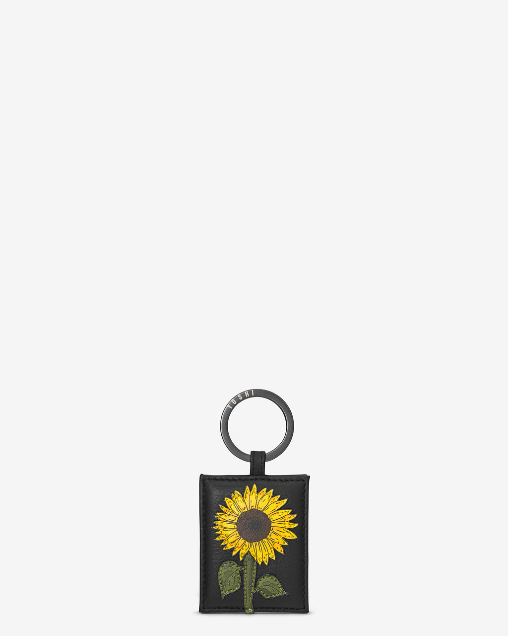 Sunflowers Leather Keyring