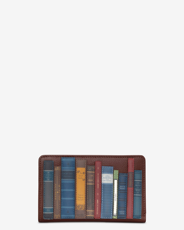 Bookworm Library Zip Around Leather Purse