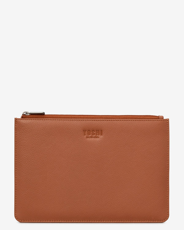 Brooklyn Zip Top Leather Pouch