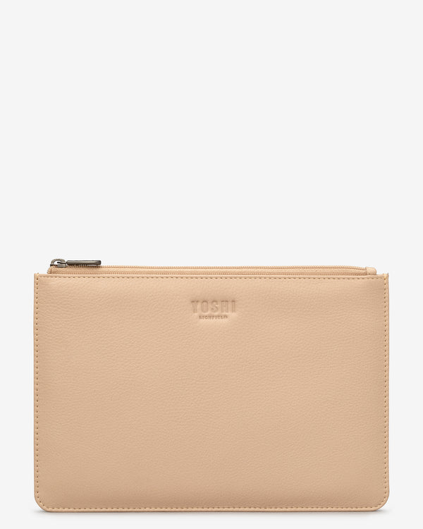 Brooklyn Leather Zip Top Pouch