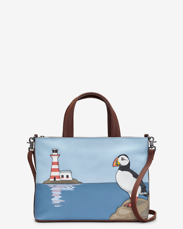 Puffin Island Leather Grab Bag