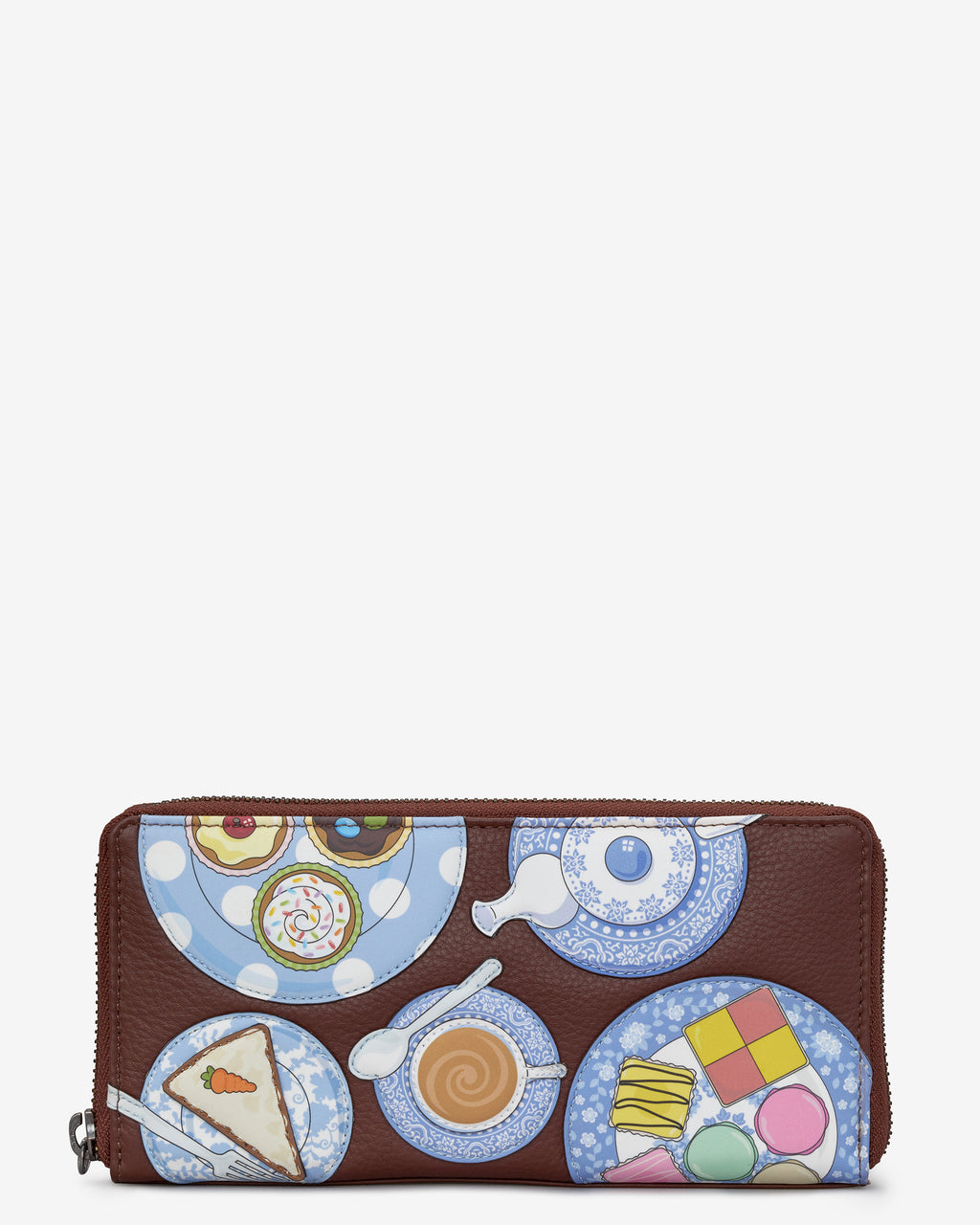 Afternoon Tea Zip Round Leather Purse