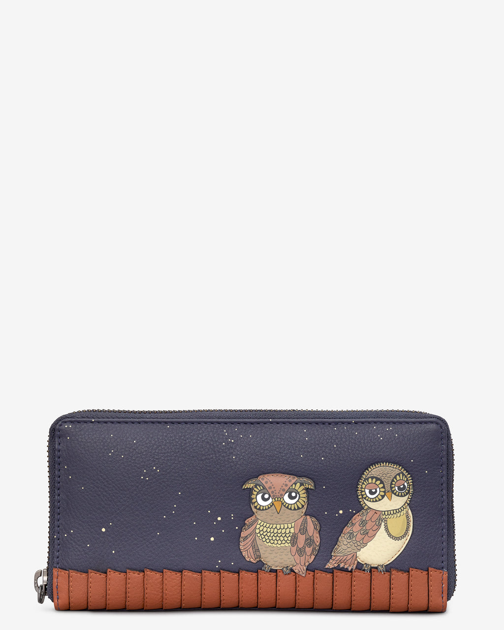 Owl You Need Zip Round Leather Purse