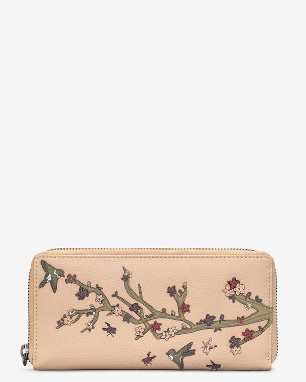 Sakura Zip Round Leather Purse