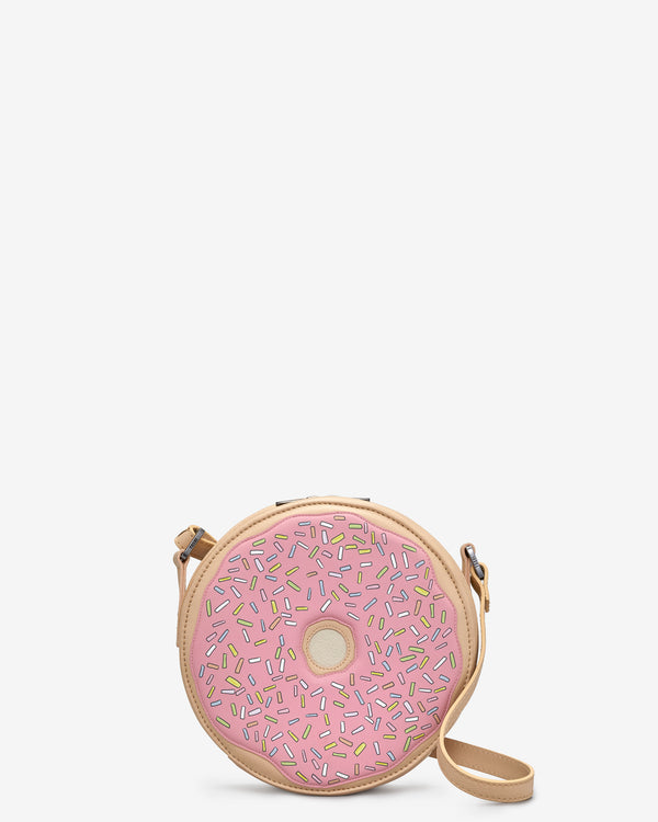 Donut Leather Cross Body Bag