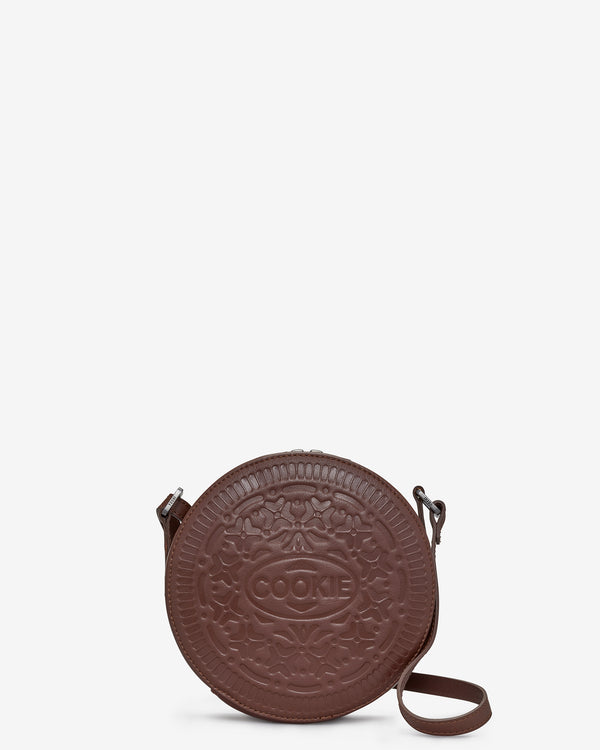 Cookie Biscuit Leather Cross Body Bag
