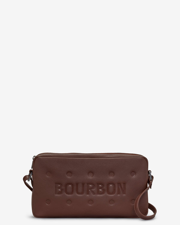 Bourbon Biscuit Leather Cross Body Bag
